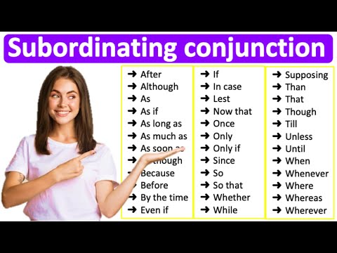 SUBORDINATING CONJUNCTIONS 📚| Learn all types with examples
