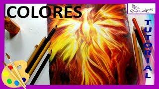 COMO DIBUJAR 🎨 FENIX de Fuego a Colores