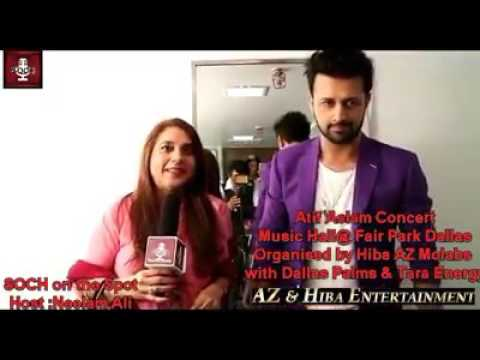 Atif Aslam Live Interview 2017 At Dallas.