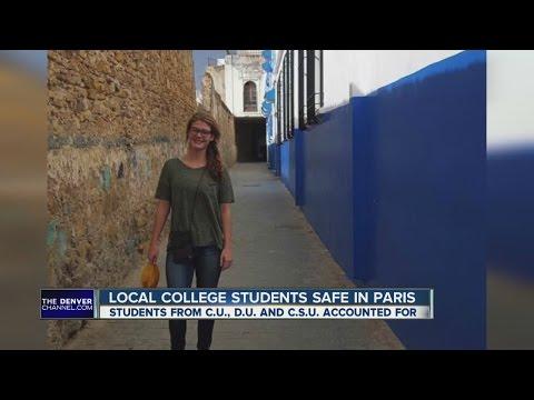 Local college students safe in Paris