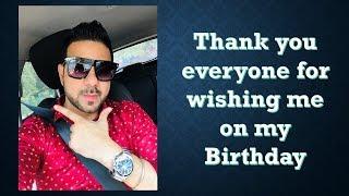 "Thanku for wishing me on my Birthday I Keep blessing & loving ""Sundeep The Traveller"""
