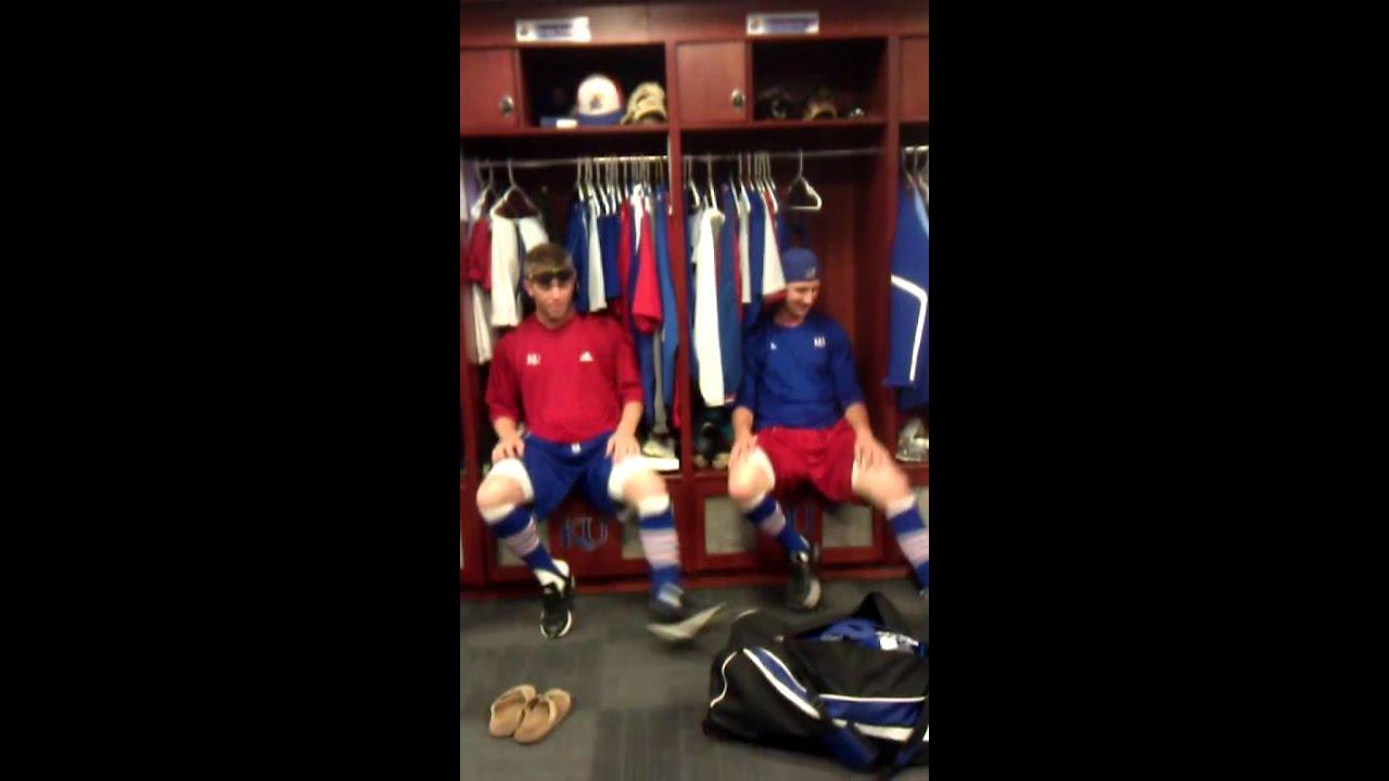 Kansas Baseball Locker Room Dance Routine