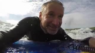 Bodyboarding & SUPing at Polzeath
