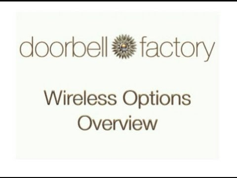 DOORBELL FACTORY   DECORATIVE WIRELESS DOORBELL OPTIONS OVERVIEW   YouTube