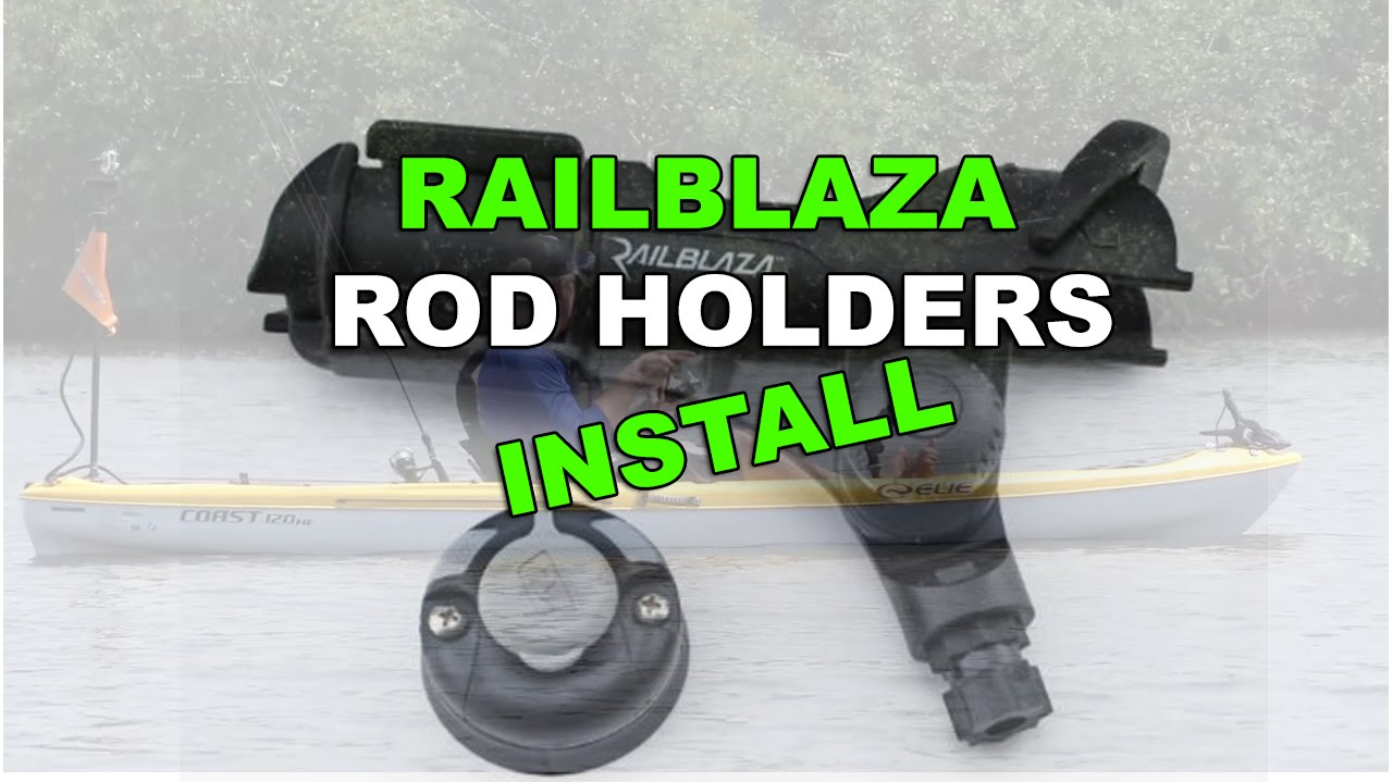 How to install a railblaza rod holder with starport mount for Fissot fishing kayak price