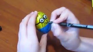 Киндер сюрприз миньоны яйца пасхальные поделки с детьми подарки своими руками ♥DIY♥Идеи рукоделия!