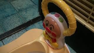 おまる!!トイレトレーニングに!!ちょっと高かったけど買ってよかった!!あんぱんまんの5WAYおまる!!おすすめです!!ネット通販レポート!!