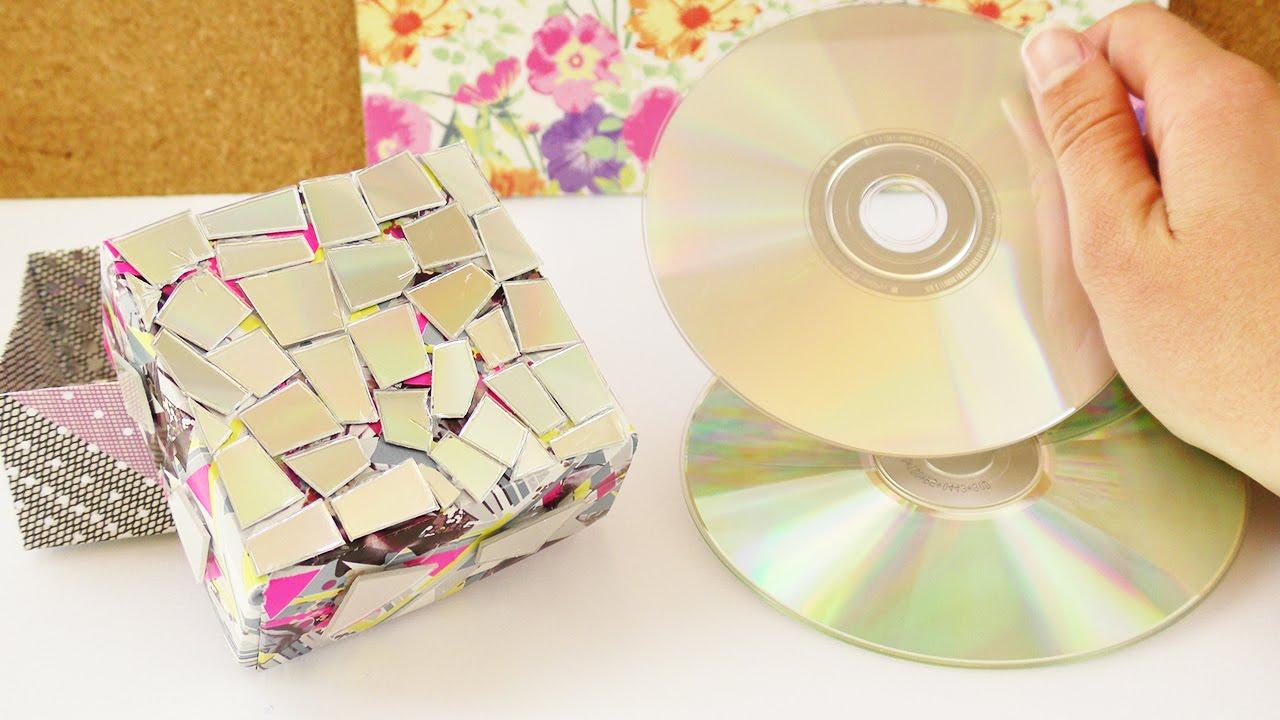 Kleine Box Mit Cd Resten Bekleben Coole Aufbewahrung Oder Geschenk