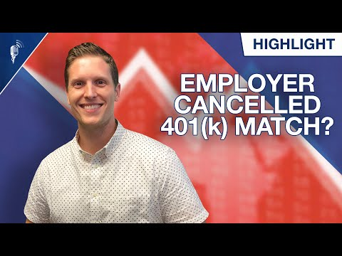 What Should You Do If Your Employer Cancelled Your 401k Match?! - 동영상