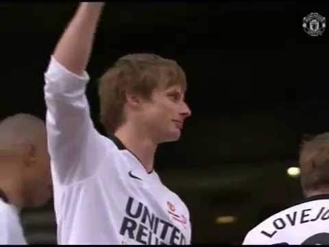 2010 - Bradley James Lifts Soccer Cup At United Sports Relief Match