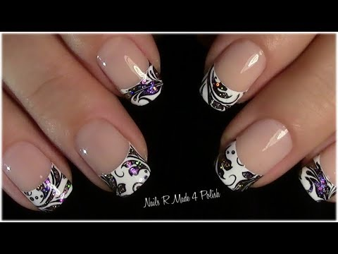 multichrome glitter french nails tutorial schn rkel nageldesign youtube