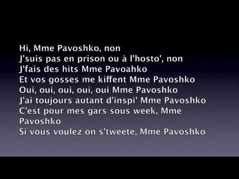 Black M - Mme Pavoshko (paroles)