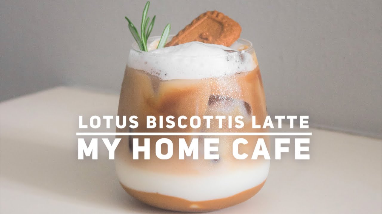 Lotus Biscoff Latte Recipe - My Home Cafe - YouTube