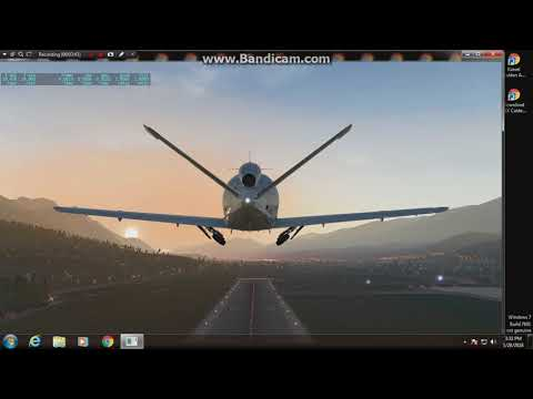 X-Plane 11,,AM At Innsbruck Airport, Austria In A Cirrus Jet