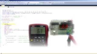 Цифровой вольтметр на микроконтроллере. (Урок 17)(Уроки для начинающих по программированию микроконтроллеров. Тема: вольтметра цифровой на микроконтроллер..., 2015-09-10T04:23:38.000Z)