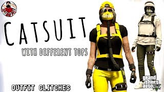 GTA5   Outfit Glitches: *NEW* Catsuits with 2 Different Style Tops (Female Only)