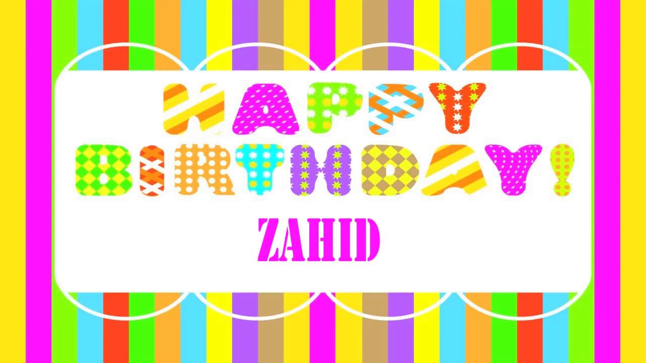 Zahid Wishes Mensajes Happy Birthday Youtube