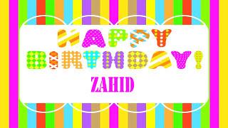 Zahid   Wishes & Mensajes - Happy Birthday