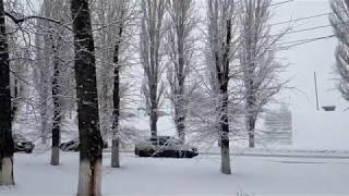 Снегопад в Балаково 17 января 2020 4K video