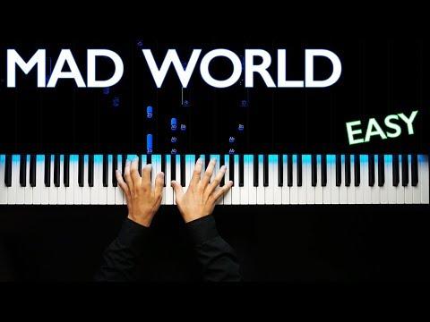 Mad World  Gary Jules ver  Piano tutorial  Karaoke