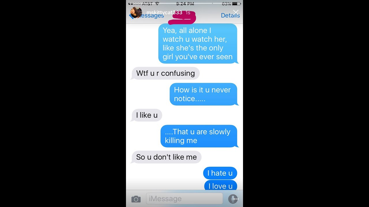 texting the guy who likes me i hate you i love you lyrics!? - YouTube