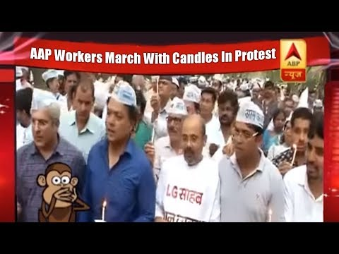 Poll Khol With Shekhar Suman: AAP Workers March With Candles in Protest | ABP News