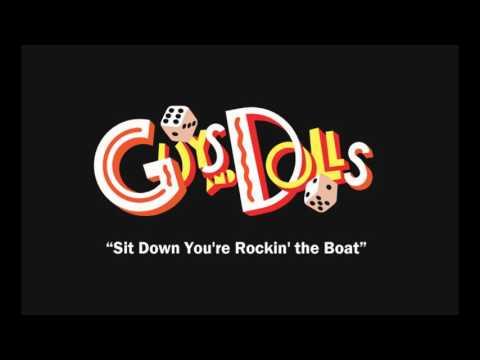 Sit Down You're Rockin' the Boat karaoke instrumental