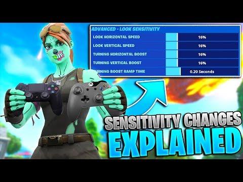 NEW Controller Fortnite Sensitivity Settings EXPLAINED! (Fortnite Sensitivity Update - PS4 + Xbox)