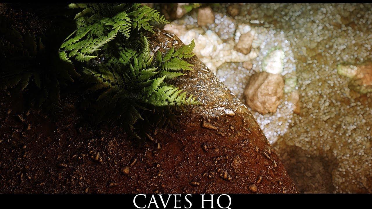 Skyrim SE Mods: Caves HQ
