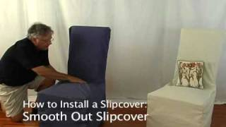 How To Install A Slipcover On A Dining Room Chair • Stretchandcover.com