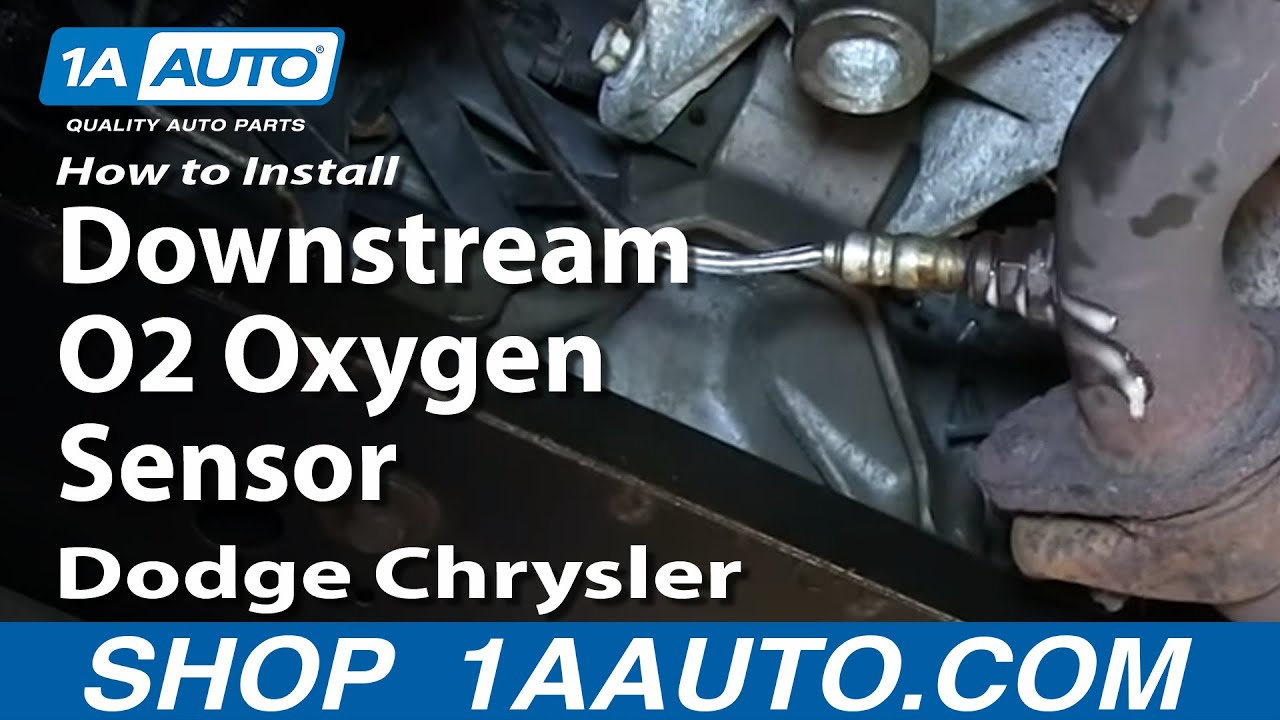 How To Install Replace Downstream O2 Oxygen Sensor 2 7l Dodge Chrysler Youtube