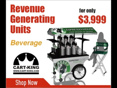 Incredible Coffee Carts for Sale by Cart-King - YouTube