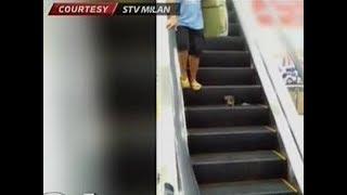 24 Oras: Daga sa escalator sa isang mall sa Divisoria, bumulaga sa ilang mamimili
