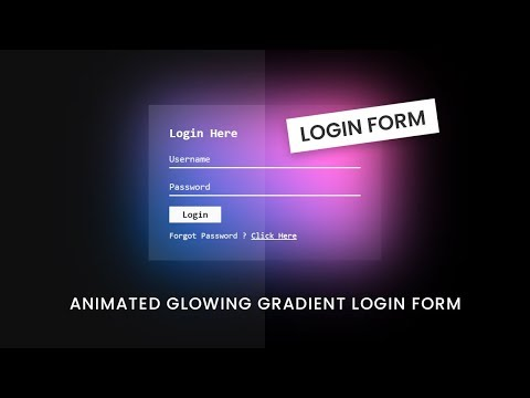 Animated Glowing Gradient Login Form Using Html CSS | User Sign in Form Design thumbnail