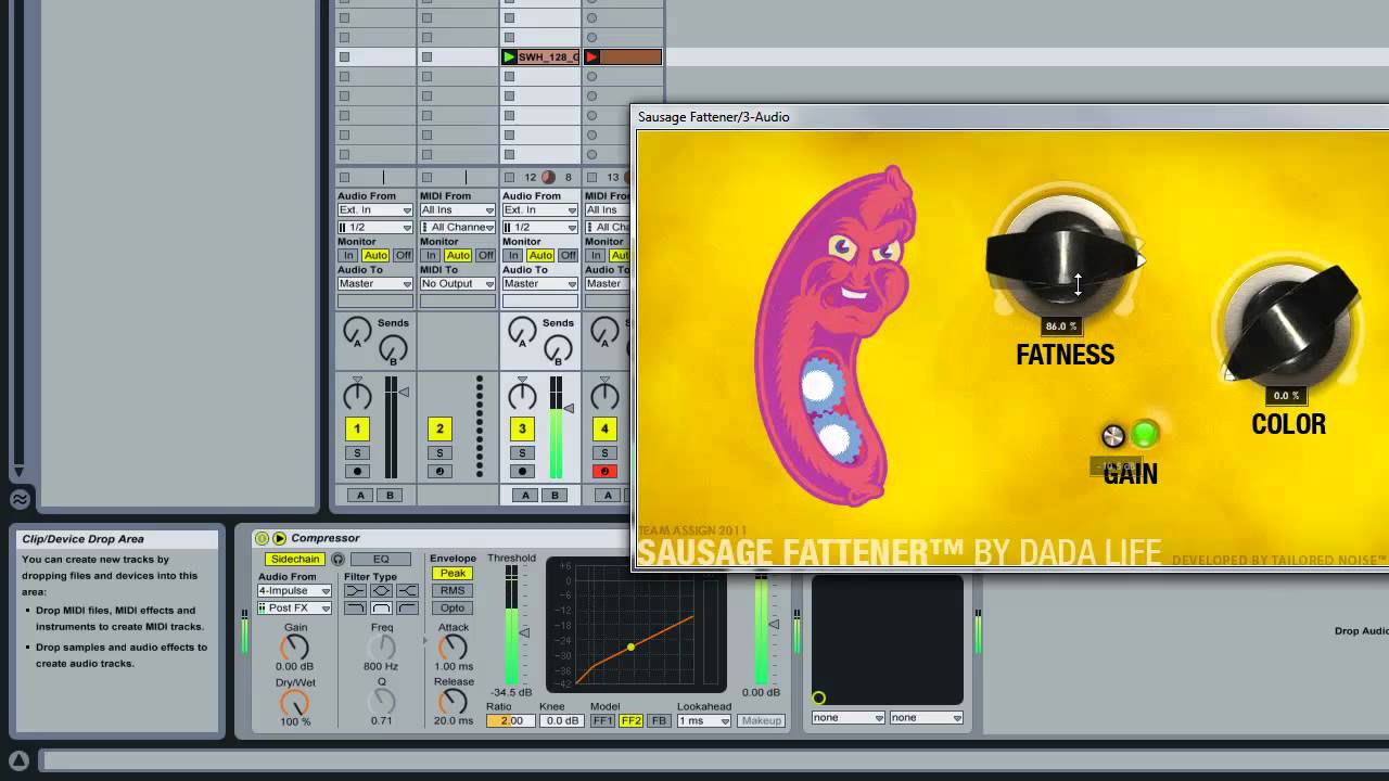 Dada Life - The Sausage Fattener test with Ableton
