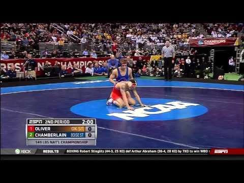 2013 NCAA Wrestling National Championships D1 Jordan Oliver OSU vs. Jason Chamberlain Boise