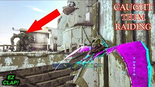 I CAUGHT THEM IN THE MIDDLE OF A JUICY RAID + Defending!? ARK Official PvP 6 man