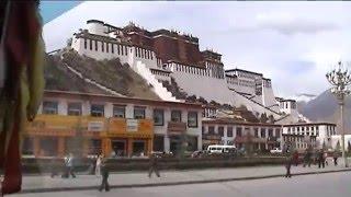 Driving into Lhasa, Tibet