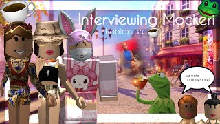 Interviewing Mockeri - Roblox Tea