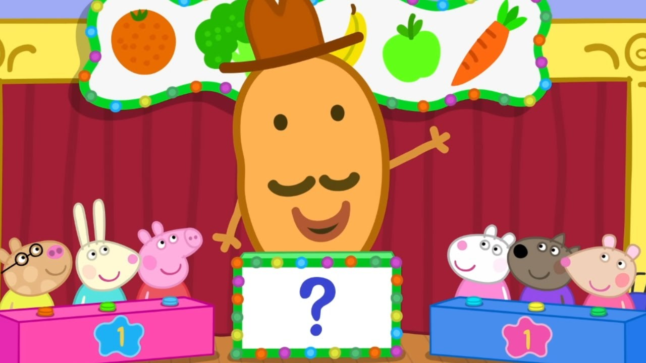 Download Peppa Pig Official Channel | Who's the Winner at Vegetable and Fruit Quiz?