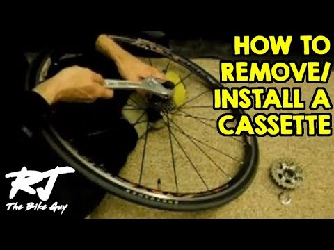 How To Remove Install A Cassette On A Bike Wheel Youtube