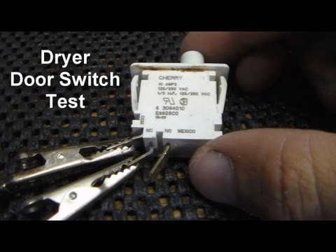 Dryer Not Starting - How To Test The Door Switch