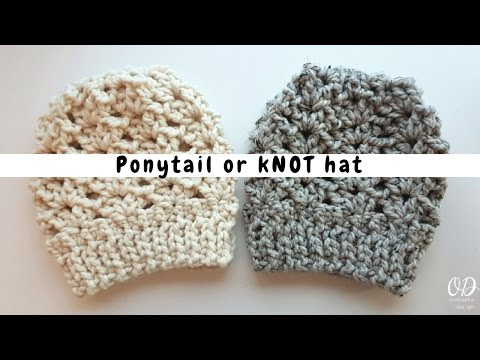Ponytail Or Knot Hat -  Free Pattern from Oombawka Design