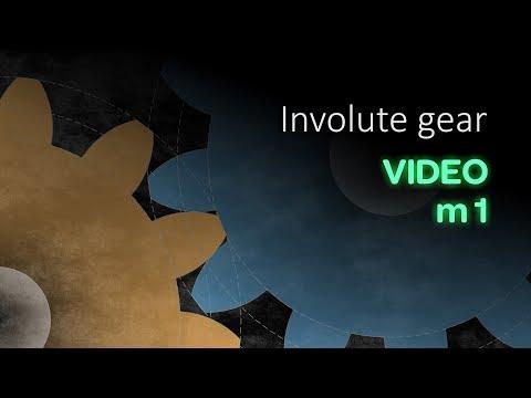 Involute Gear. Animation | Video M1 | ISopromat