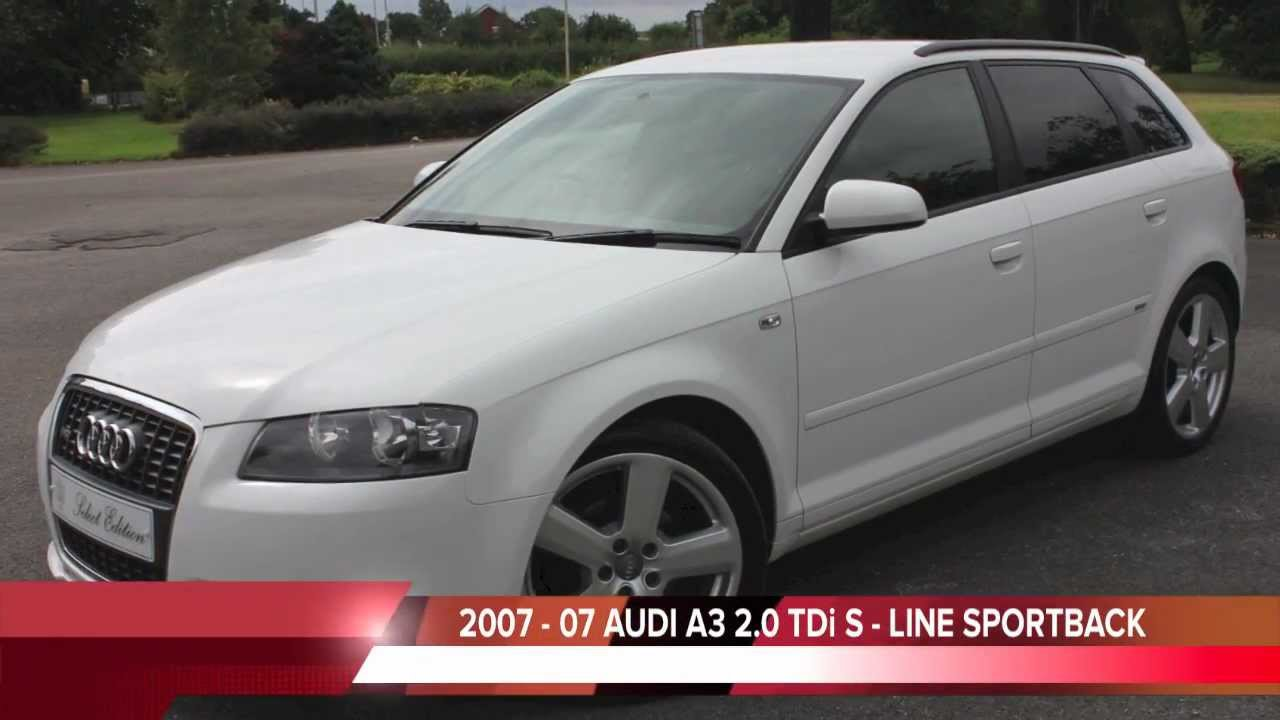 Audi a3 s line 5dr sportback ibis youtube for For sale on line