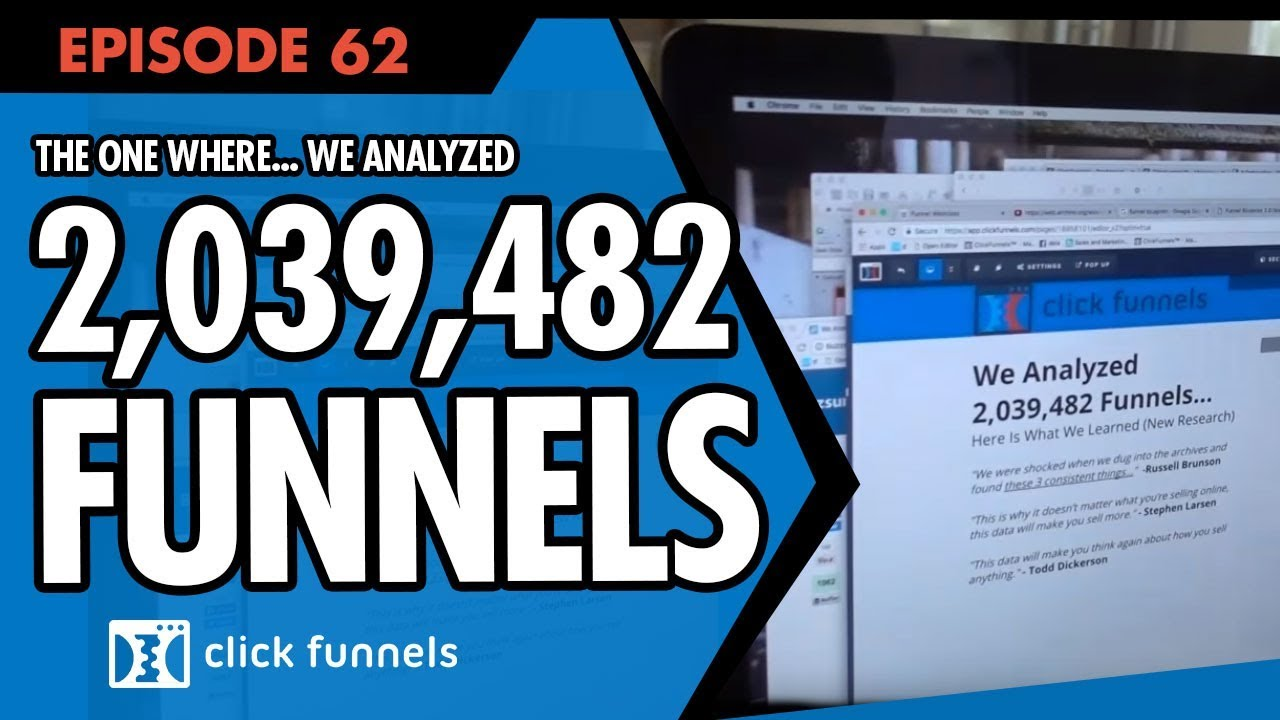 That one where We Analyzed 2,039,482 Funnels ... Funnel Hacker TV Episode 62