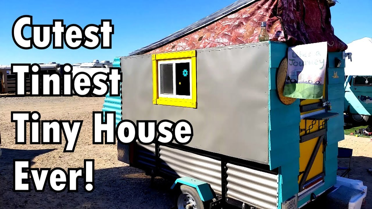 Tiniest Tiny House Trailer Can Be Pulled By A Regular Car