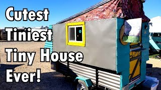 Tiniest Tiny House Trailer Can Be Pulled By A Regular Car!