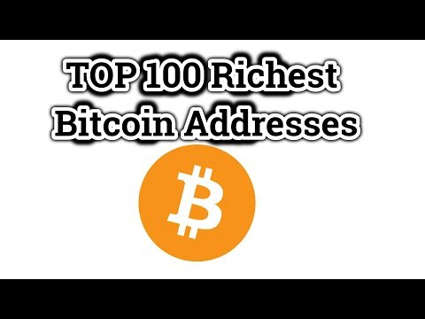 TOP 100 Richest Bitcoin Addresses / Famous investor Bill Miller have 30of his funds in BITCOIN