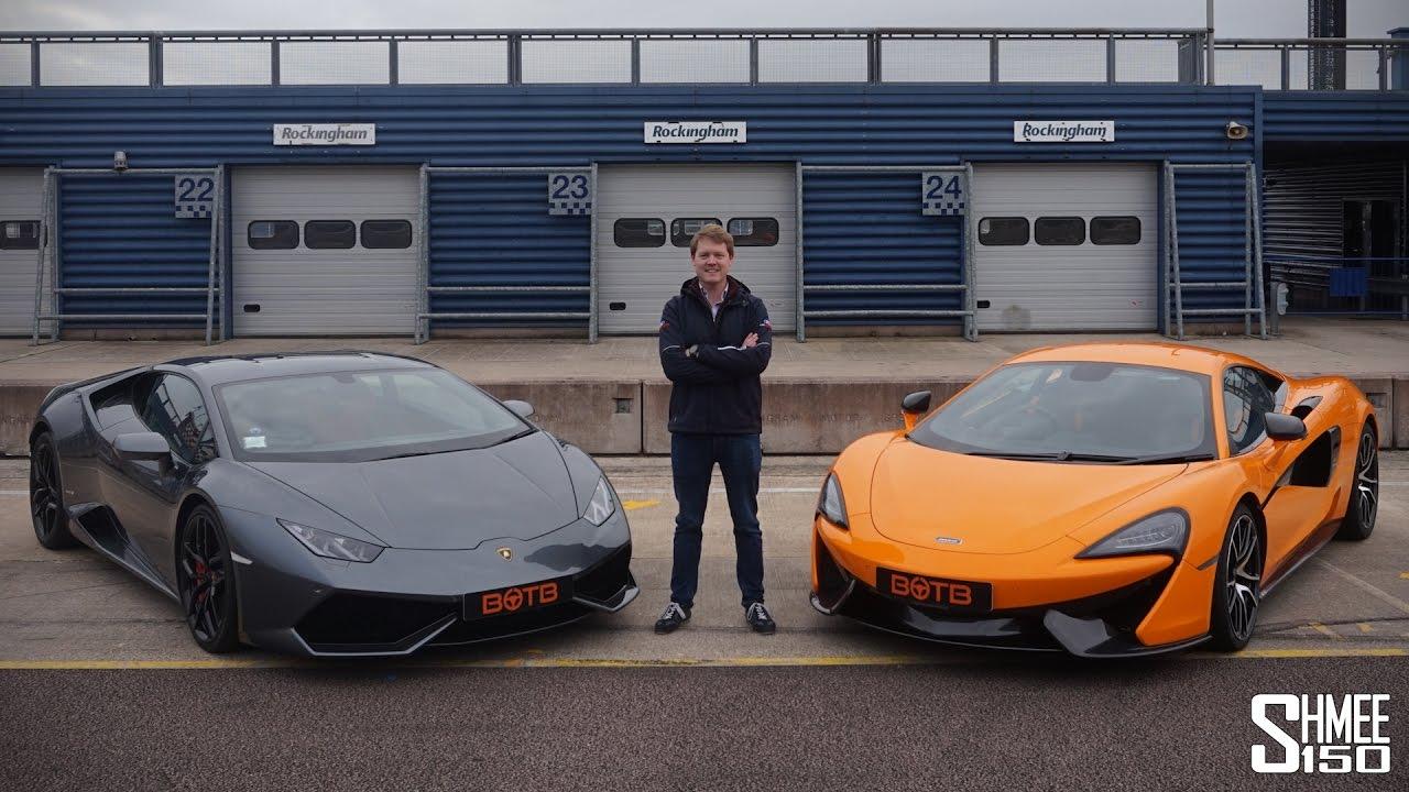 DRAG RACE: Lamborghini Huracan vs McLaren 570S - YouTube